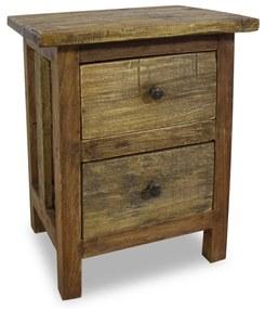 244487 vidaXL Mesa de cabeceira em madeira reciclada maciça 40x30x51 cm