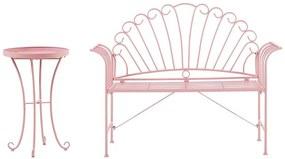 Conjunto de jardim de metal rosa CAVINA