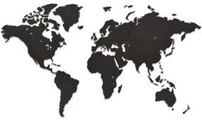 425856 MiMi Innovations Decoração parede mapa-múndi Luxury preto 90x54 cm