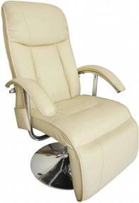Cadeira de massagens couro artificial branco nata