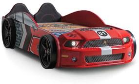 Cama de carro infantil MUSCLE MustANG (KRD) - VERMELHO (XT 710538V)