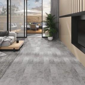 146604 vidaXL Tábuas de soalho PVC 5,26 m² 2 mm cinzento cimento