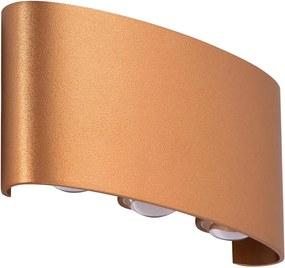Azzardo AZ3485 - Iluminação de parede de exterior LED GINNA 6xLED/1W/230V IP54
