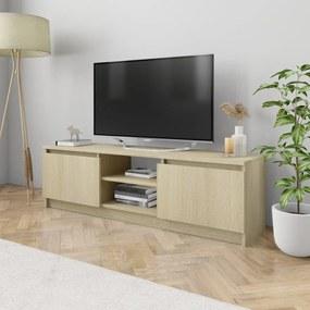 800570 vidaXL Móvel de TV 120x30x35,5 cm contraplacado cor carvalho sonoma