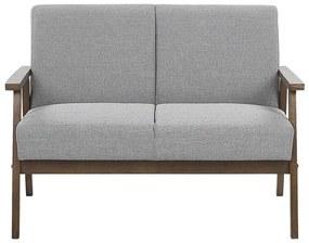 Sofá de 2 lugares em tecido cinzento ASNES