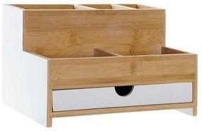 Organizador Multiusos DKD Home Decor Secretária Bambu (23.5 x 18 x 15 cm)