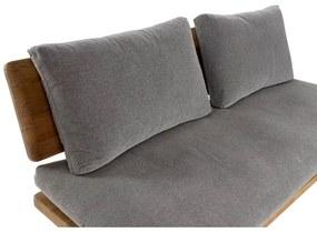 Sofá DKD Home Decor Castanho Cinzento Algodão Pinheiro (195 x 90 x 78 cm)