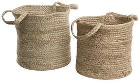 Conjunto de 2 cestos com alças creme KAELLA