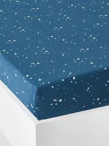 Lençol-capa para bebé, Estrela Polar azul escuro estampado