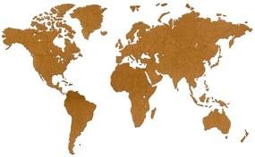 425855 MiMi Innovations Decoração parede mapa-múndi Luxury castanho 180x108cm