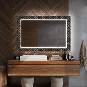 Rectangulares espelho decorativo com iluminação para o banheiro  x=110 x   y=60 cm