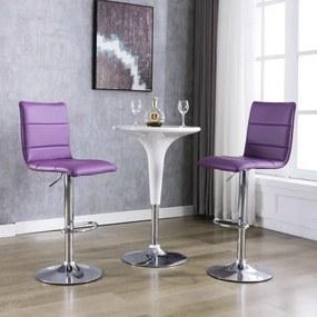 249638 vidaXL Cadeiras de bar 2 pcs couro artificial roxo