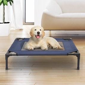 Cama para Animais de estimação tipo Cão ou Gato para Exterior Varanda e Jardim - Azul e Preto - 76 x 61 x 18 cm