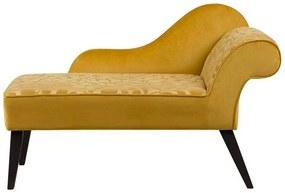 Sofá chaise longue amarelo versão à direita 90 x 52 cm BIARRITZ