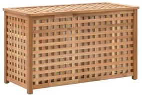 247602 vidaXL Arca p/ roupa suja 77,5x37,5x46,5 cm madeira nogueira maciça