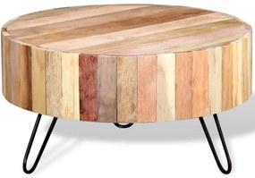 244237 vidaXL Mesa de centro em madeira maciça reciclada
