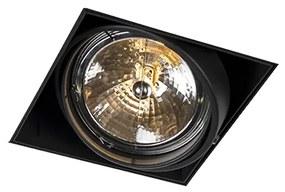 Foco de encastrar AR111 preto orientável trimless - ONEON Moderno