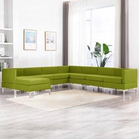 3052854 vidaXL 8 pcs conjunto de sofás tecido verde