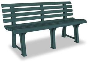 43584 vidaXL Banco de jardim 145,5 cm plástico verde