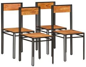 275845 vidaXL Cadeiras de jantar 4 pcs madeira acácia c/ acabamento sheesham