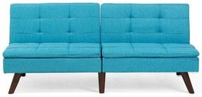Sofá-cama de 3 lugares em tecido azul turquesa RONNE