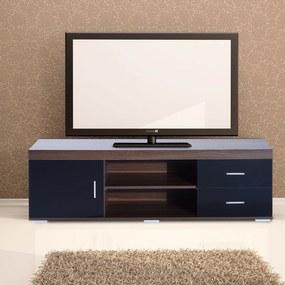 HOMCOM Móvel de Televisão de madeira café estilo vintage com gavetas 140x40x45 cm