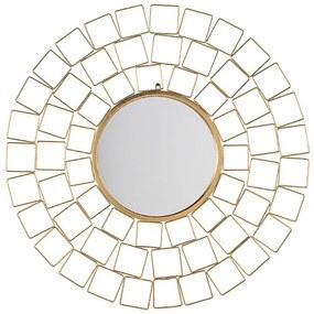 Espelho de parede ø 90 cm dourado LABRIT