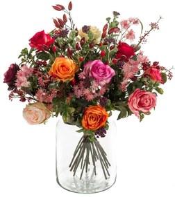 423625 Emerald Buquê artificial Flame Roses