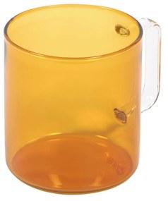 Kave Home - Chávena Coralie vidro laranja e transparente