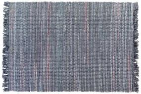 Tapete de algodão feito à mão 140 x 200 cm cinza BESNI