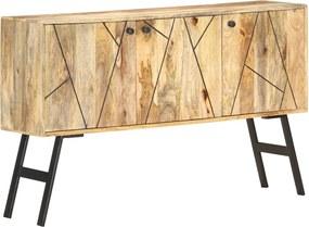 Aparador 118x30x75 cm madeira de mangueira maciça