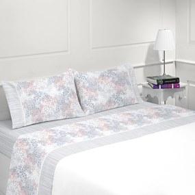Jogo de lençóis 100% algodão - MADRID da Casa&Algodão: Cama 150cm - 1 sábana encimera 240 x 290 cm + 1 sábana bajera ajustable 150 x 200 + 30 cm + 2 fundas almohada 50x70 cm