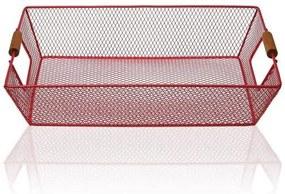 Cabaz Metal (25 x 8 x 35 cm) Vermelho