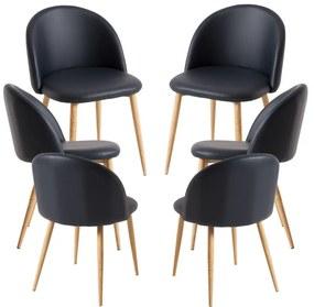 Pack 6 Cadeiras Vint Couro Sintético