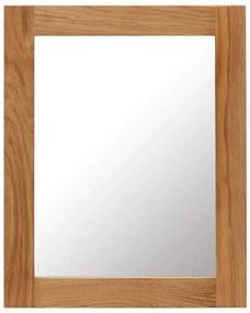 247455 vidaXL Espelho 40x50 cm madeira de carvalho maciça