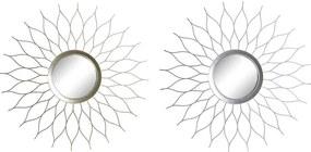 Espelho de parede DKD Home Decor Polipropileno (PP) (2 pcs) (50.5 x 2 x 50.5 cm)