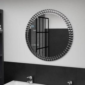 249450 vidaXL Espelho de parede 70 cm vidro temperado prateado