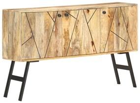 285872 vidaXL Aparador 118x30x75 cm madeira de mangueira maciça