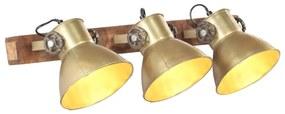 320507 vidaXL Candeeiro de parede industrial 65x25 cm E27 bronze