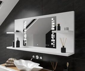 Espelho com iluminação e com prateleiras LED L38