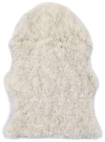 284714 vidaXL Tapete em pele de carneiro artificial 60x90cm cinzento mesclado