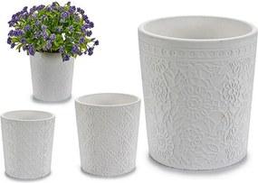 Vaso Branco Cerâmica (12,3 x 12 x 12,3 cm)