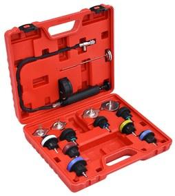 210560 vidaXL 14 pcs teste pressão sistema refrigeração e tampão do radiador