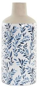 Vaso DKD Home Decor Azul Branco Bege Porcelana Tradicional (14.5 x 14.5 x 33 cm)
