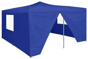 48903 vidaXL Tenda dobrável com 4 paredes laterais 5x5 m azul