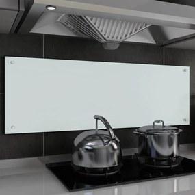 249463 vidaXL Painel anti-salpicos de cozinha branco 120x40cm vidro temperado