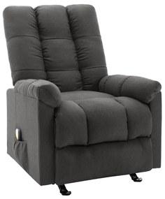 321411 vidaXL Poltrona de massagens reclinável tecido cinzento-escuro