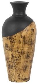 Vaso decorativo preto e castanho BONA
