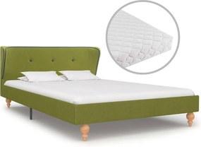 Cama com colchão 120x200 cm tecido verde