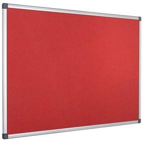 Quadro Expositor Feltro 90x120cm Vermelho Moldura Alumínio Maya
